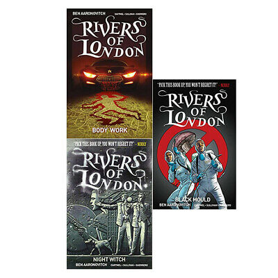 Rivers of London 4 Books Collection Set Body Work Night Witch Black Mould PACK