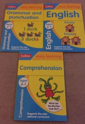 Collins Easy Learning Age 5-7 3 Books Comprehension, Grammar & Punc, English