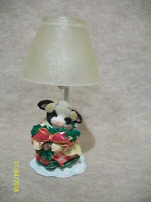 Happy Holiday Candle Holder - Cow Figurine