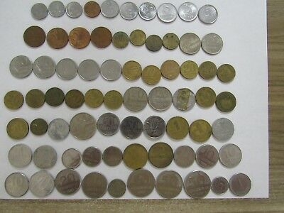 Lot of 72 Different Brazil Coins - 1943 to 2010 - Circulated