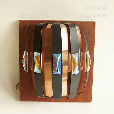 Vintage 70s Werner Schou CORONELL Black & Copper Wall Light Fixture FREE UK P&P
