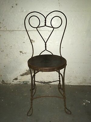 Vintage 1920s Great Northern Chair Co  Parlor Shop Wrought Iron Metal Mickey