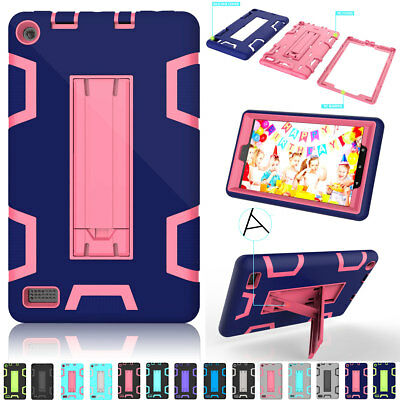 For Amazon Kindle Fire HD 8 7 2017 Tablet Case Hybrid Rugged Silicone Full Cover