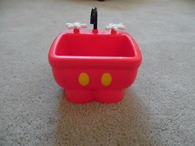 Disney Parks Mickey Mouse Red Pants Kitchen Sink Ice Cream Bowl