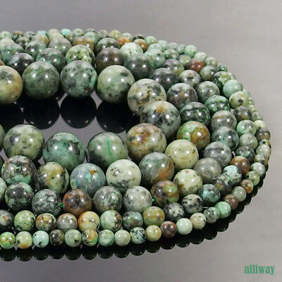 Natural African Turquoise Stone Spacer Bead 15.5'' 2mm 3mm 4mm 6mm 8mm 10mm 12mm