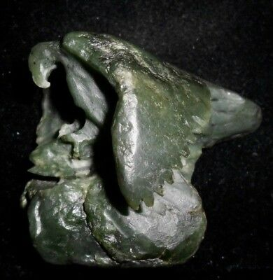 NEPHRITE JADE EAGLE and WHALE*Big Sur California*Two Carvings on One Piece Jade