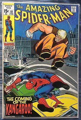 Amazing Spider-man #81 Marvel Comics 1960's First Appearance Of Kangaroo