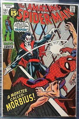 AMAZING SPIDER-MAN #101 The 1ST Appearance Of MORBIUS The Living Vampire