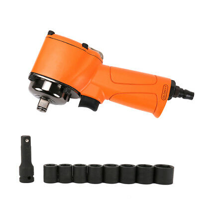 """Pneumatic Air Impact Wrench 1/2"""" Drive With 8Pcs Sockets Kit Auto Repair Tool"""