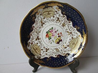 Antique Plate Hand Painted Flowers a/f