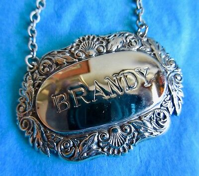 BRANDY Vintage Ornate Decanter Label