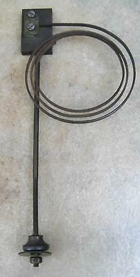 "VINTAGE 3.25"" (8cm) COILED CLOCK GONG (SINGLE STRIKE/CHIME) ON 8"" (20.5cm) STEM"
