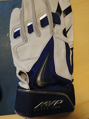 Nike Mvp Elite Pro Adult Xl Premium  Baseball Batting Gloves. Navy Blue