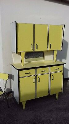 French 1960s Kitchen Full Set Units And Table