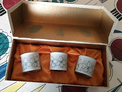Hornsea Pottery Charisma boxed set of 3 eggcups