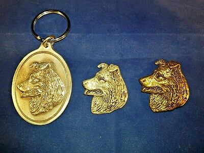 Keychains Belgian Sheep Dog Tervure Brooch Pewter Key Ring Silver Bronze Plate Dannyquest Fashion Jewelry