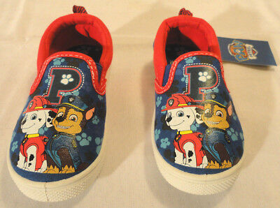Paw Patrol, Toddler Boys Canvas Slip-On Shoes, Choose Size 8 Or 9, New Free Ship