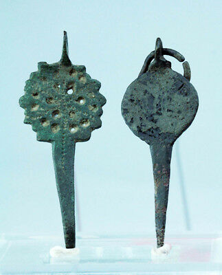 *sc*a Pair Of Islamic / Byzantine Bronze Dress Pin And Buckle!