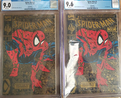 Spider-Man#1 1990, Gold. 2 BOOKS! CGC 9.6 and 9.0.