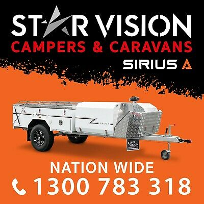 STAR VISION SIRIUS A Hard Floor Camper Trailer Off Road Caravan Camper Rear Fold
