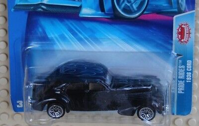 "2004 Hot Wheels ""pride Rides"" Classic Black 1936 Cord * Very Good Card"