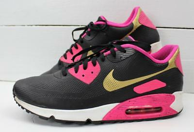 sports shoes 71af4 ca5ed ... canada nike air max 90 hyperfuse ultra black pink gold custom mens  sneakers size 13 dffe5