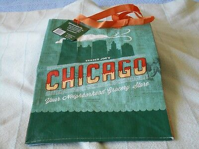 Trader Joes Reusable Grocery Shopping Bag Chicago New 6 Gallon Capacity Chicago