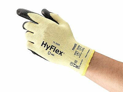 Ansell 11-500-10 HyFlex Made With Kevlar Gloves, X-Large, Size 10, 12 Pairs