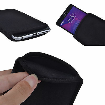 Portable Carrying Soft Sleeve Pouch Bag Case Cover for Samsung Galaxy Cellphones