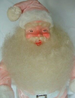 "VINTAGE HOWARD GALE, 1950'S SANTA CLAUS pink VELVET SUIT  14"" tall"