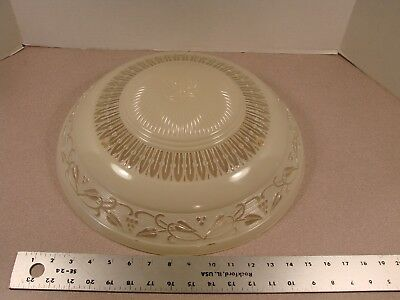 "Nice Vtg 15"" 3 Chain Art Deco Glass Chandelier Ceiling Light Fixture Shade"