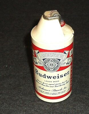 Old 1960's Budwesier Small Beer Can Lighter
