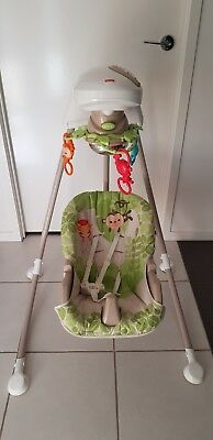 Fisher Price Rainforest Baby Cradle Swing Used