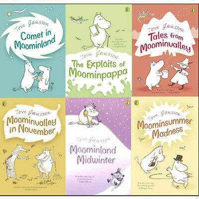 Tove Jansson Moomins 6 books collection set Children Gift Pack Comet In Moo NEW