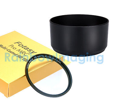 Bayonet Lens Hood as HB-77 &UV Filter for Nikon AF-P DX 70-300mm f/4.5-6.3G ED