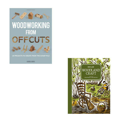 Woodworking from Offcuts, Woodland Craft 2 Books Collection Set Pack NEW