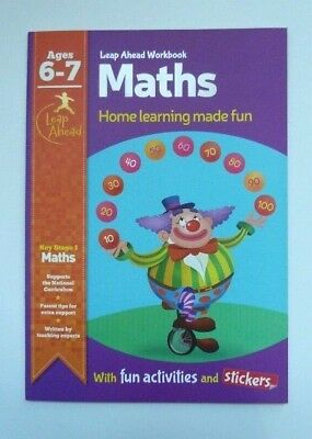 KS1 Leap Ahead Early Learning Maths Workbook With Activities & Stickers Ages 6-7