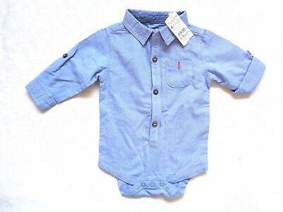 ~~ Bnwt - Nutmeg Boys Long Sleeved Shirt Age 3 - 6 Months