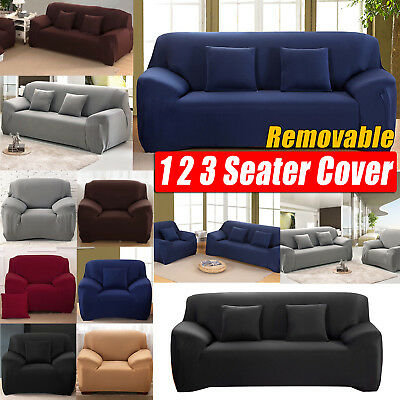 Stretch Couch Sofa Lounge Covers Slipcover Protector 1 2 3 Seater Dining Chair