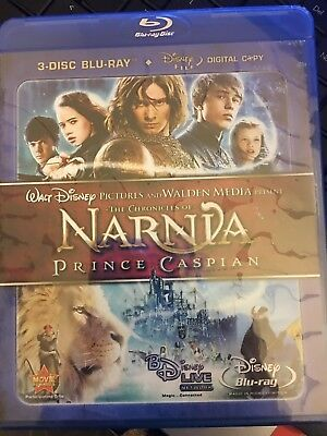 The Chronicles of Narnia: Prince Caspian (Blu-ray Disc, 3-Disc Set NEW SEALED