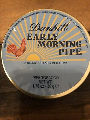 Rare Dunhill Early Morning Pipe, Pipe Tobacco In 50G Collectible Sealed Tin.