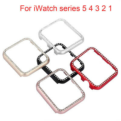 Bling Case For Apple Watch Series 5 4 3 2 1 iWatch Cover Aluminum Metal Bumper