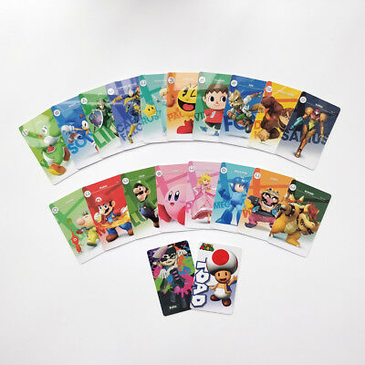 Mario Kart 8 Deluxe 20 PCS PVC NFC Cards with Free Leather Case for Switch/Wii U