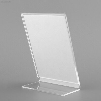 A4D0 Acrylic Plastic Menu Holder Perspex Leaflet Display Stands A6 OFFICE COLLEG