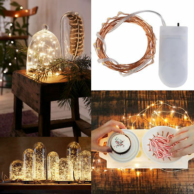 2m 20 Leds Battery Operated Mini Led Copper Wire String