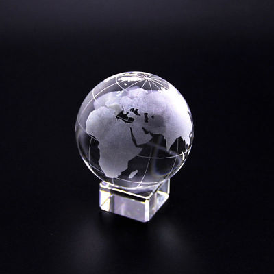 Crystal Storm Glass Sphere world Globe Ball Clear Rare Photography