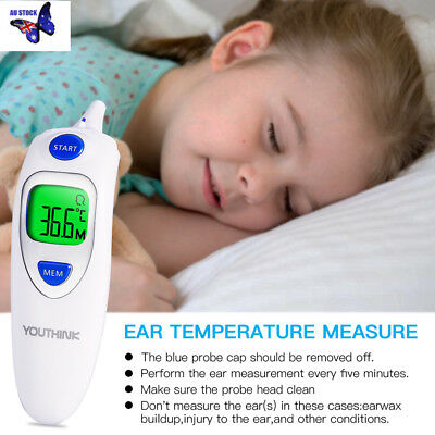High Quality Digital LED Infrared Thermometer Ear and Forehead For Family Baby