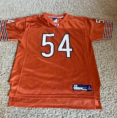 164cd1e09 Chicago Bears Brian Urlacher  54 Reebok NFL Equipment Orange Jersey SZ Boys  XL