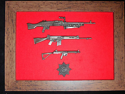 Commemorative Cheshire Regiment framed 1/6 scale weapons