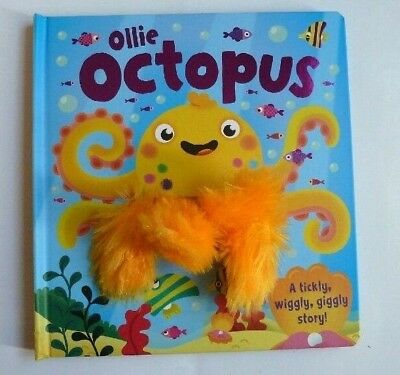 Ollie Octopus Wiggly Fingers Hand Puppet Book Ages 2+ Years Birthday Gift New